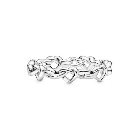 Knotted Hearts Band Ring