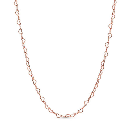 Joined Hearts Necklace, Pandora Rose™
