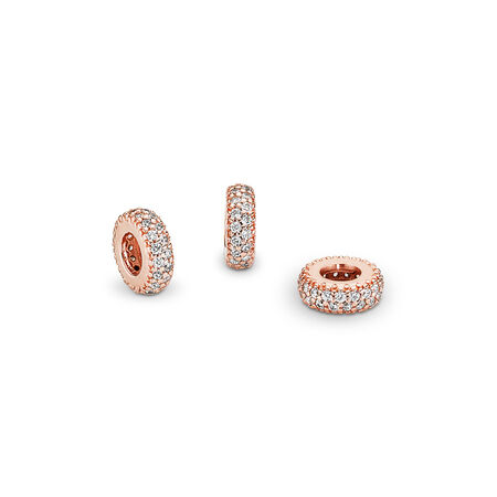 Inspiration Within Spacer, PANDORA Rose™ & Clear CZ