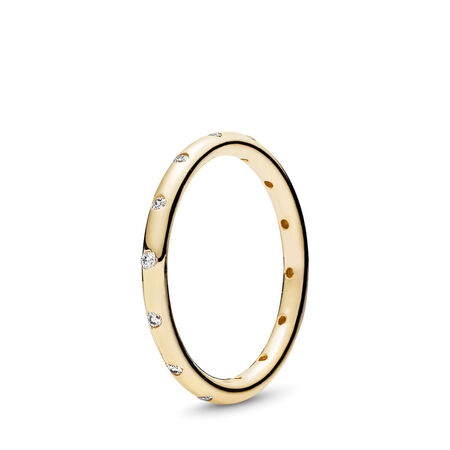 Droplets Ring, Polished 14K Gold & CZ
