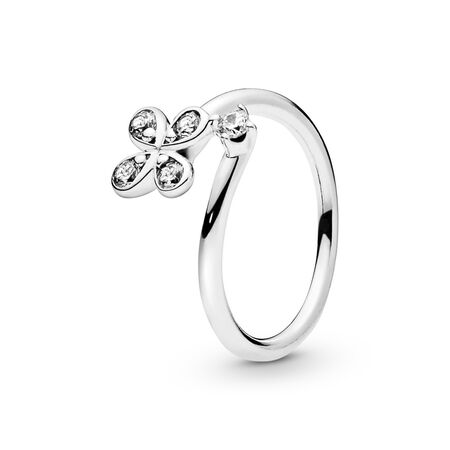 Four-Petal  Flowers Twisted Ring