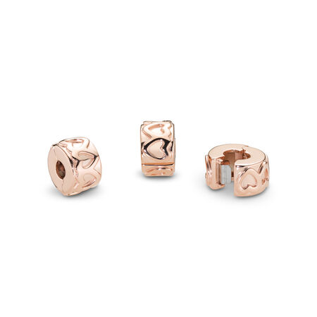 Row of Hearts Clip, PANDORA Rose™