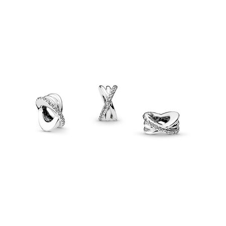 Sparkling & Polished Lines Spacer Charm
