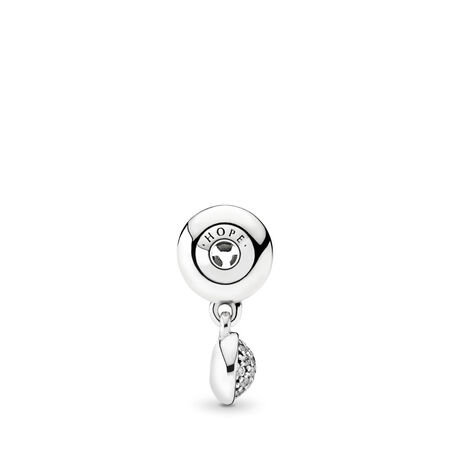 HOPE Dangle Charm, Clear CZ