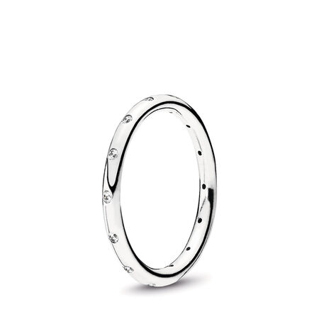Droplets Ring, Clear CZ