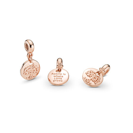 Family Roots Dangle Charm, PANDORA Rose™