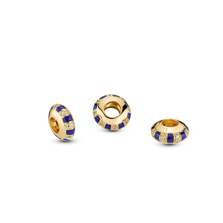 Exotic Stones & Stripes Spacer, Pandora Shine™