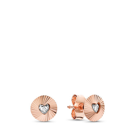 Vintage Fans Earrings, PANDORA Rose™ & Clear CZ