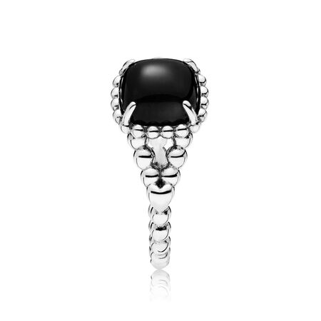 Vibrant Spirit Ring, Black Crystal