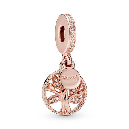 Family Heritage Dangle Charm, PANDORA Rose™ & Clear CZ