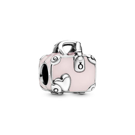 Pink Travel Bag Charm