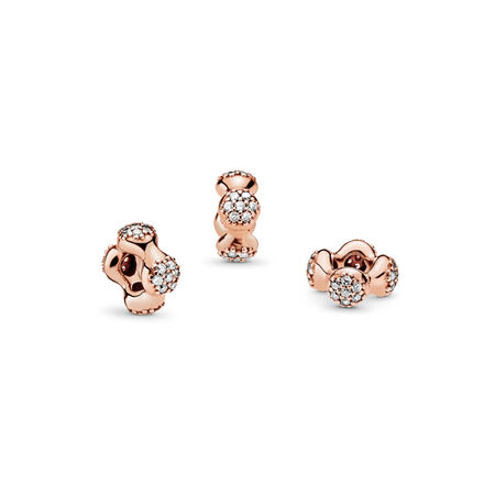 Modern LovePods™ Spacer, PANDORA Rose™ & Clear CZ