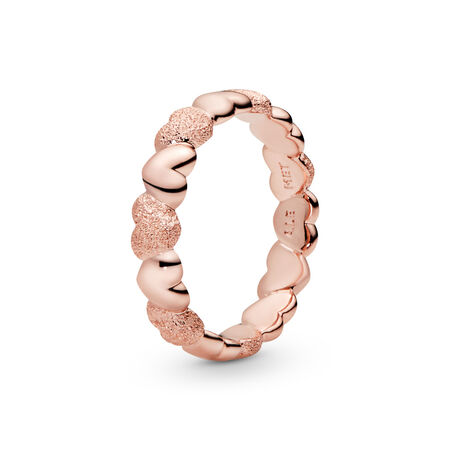 Matte Brilliance Hearts Ring, Pandora Rose™