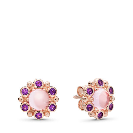 Heraldic Radiance Earrings, PANDORA Rose™ Pink & Purple Crystals