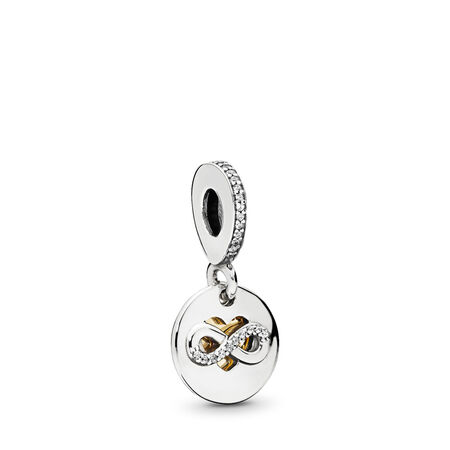 Heart of Infinity Dangle Charm, Clear CZ