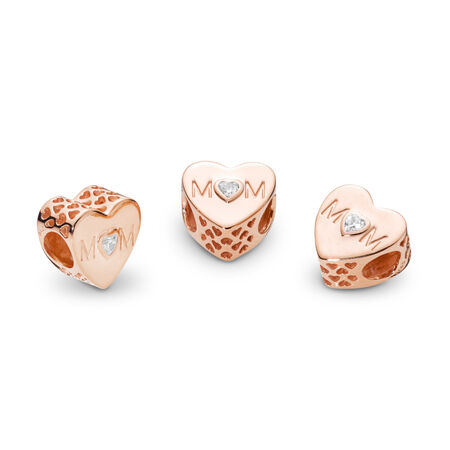 Mother Heart, PANDORA Rose™ & Clear CZ
