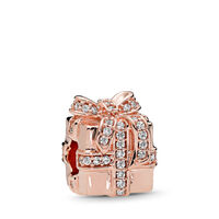 Sparkling Surprise Charm, PANDORA Rose? & Clear CZ