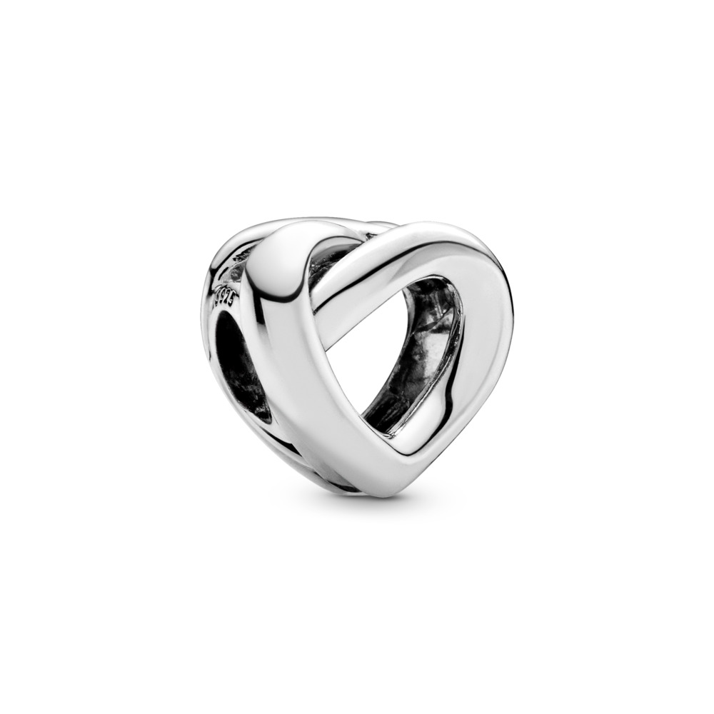 Knotted Heart Charm, Sterling silver - PANDORA - #798081
