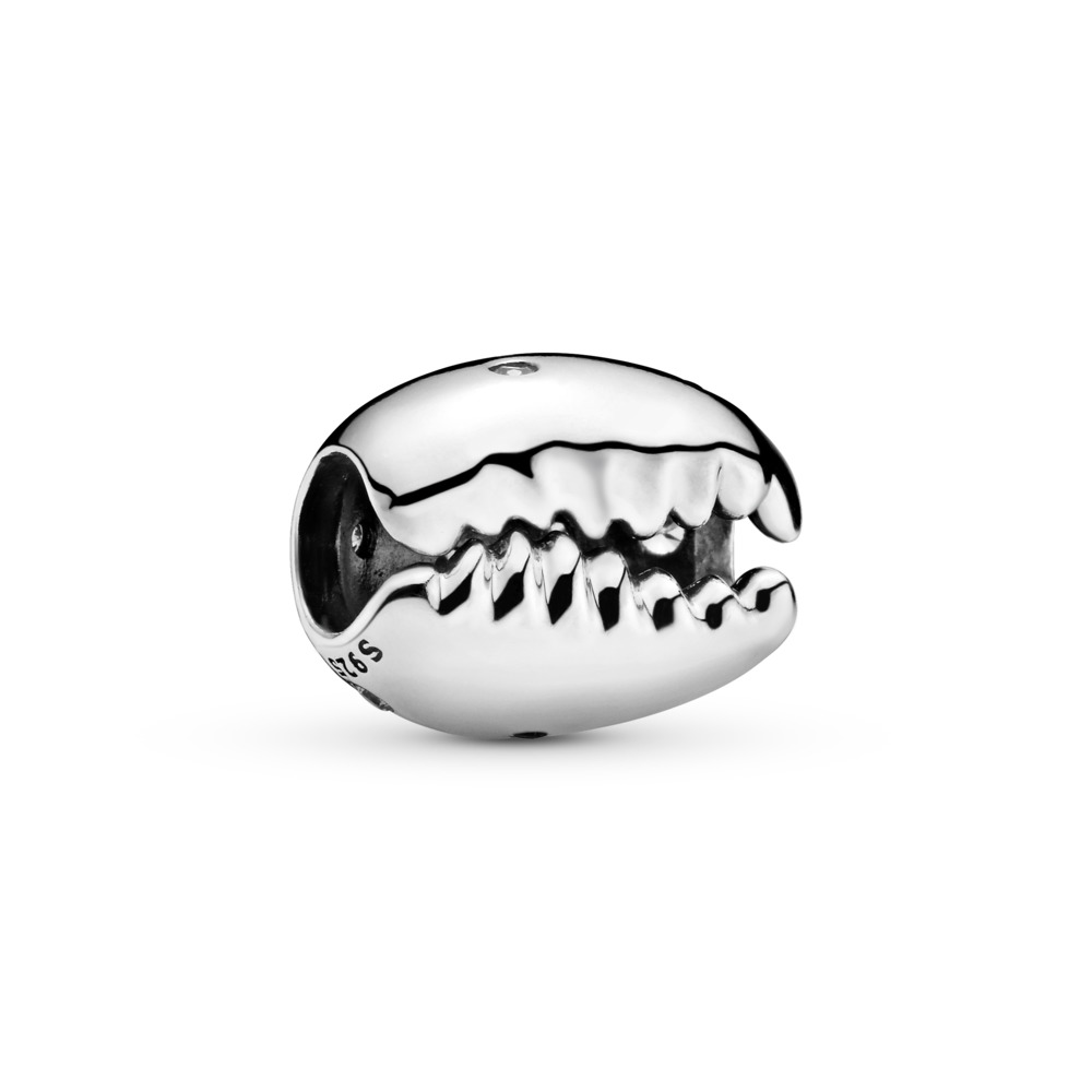 Sparkling Coffee Bean Shell Charm, Sterling silver, Cubic Zirconia - PANDORA - #798131CZ