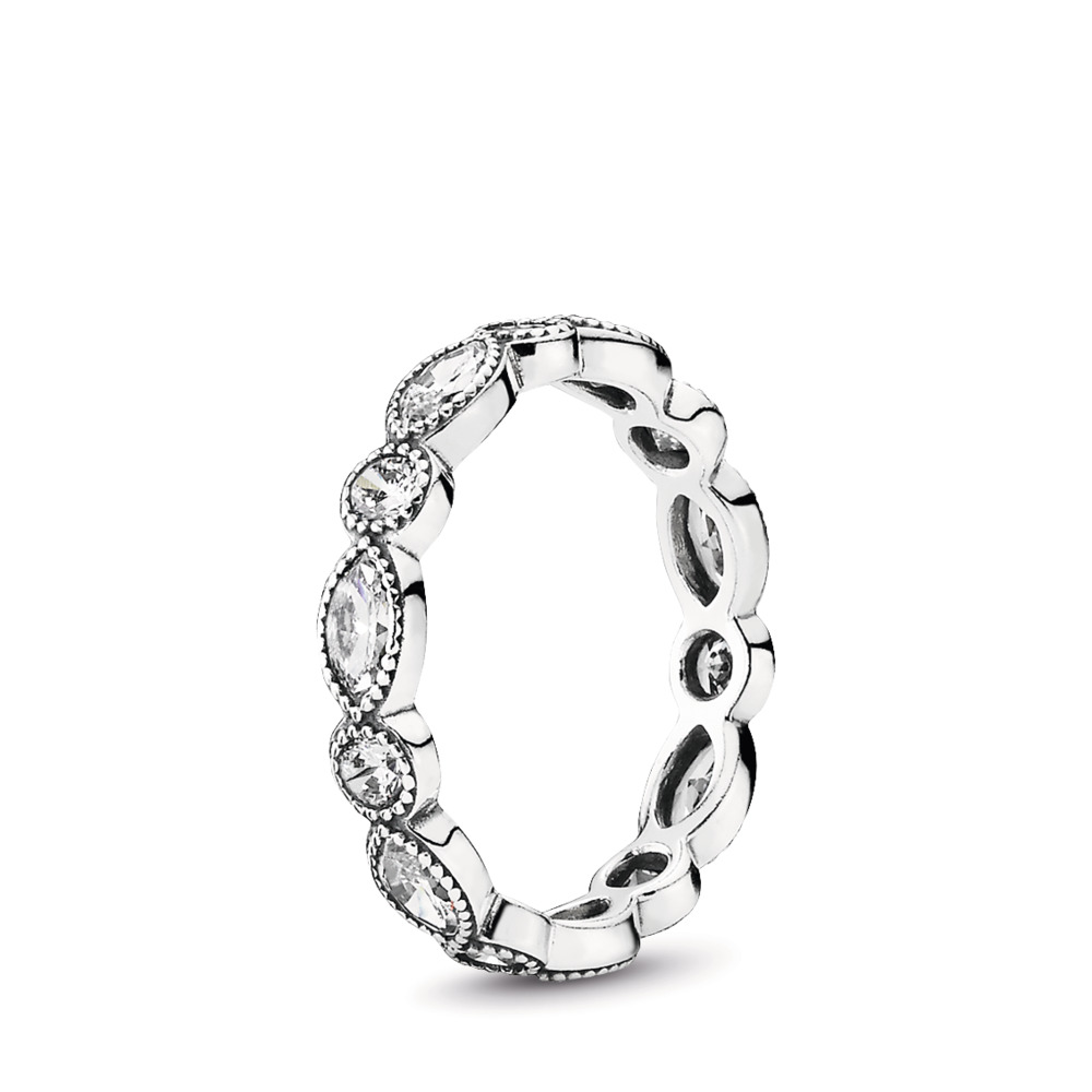 Alluring Brilliant Marquise Stackable Ring, CZ, Sterling silver, Cubic Zirconia - PANDORA - #190940CZ