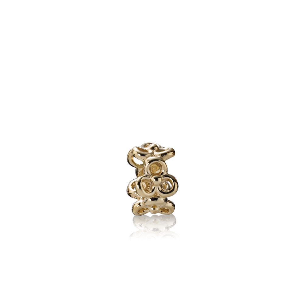 Trinity Flowers Spacer, 14K Gold, Yellow Gold 14 k - PANDORA - #750451
