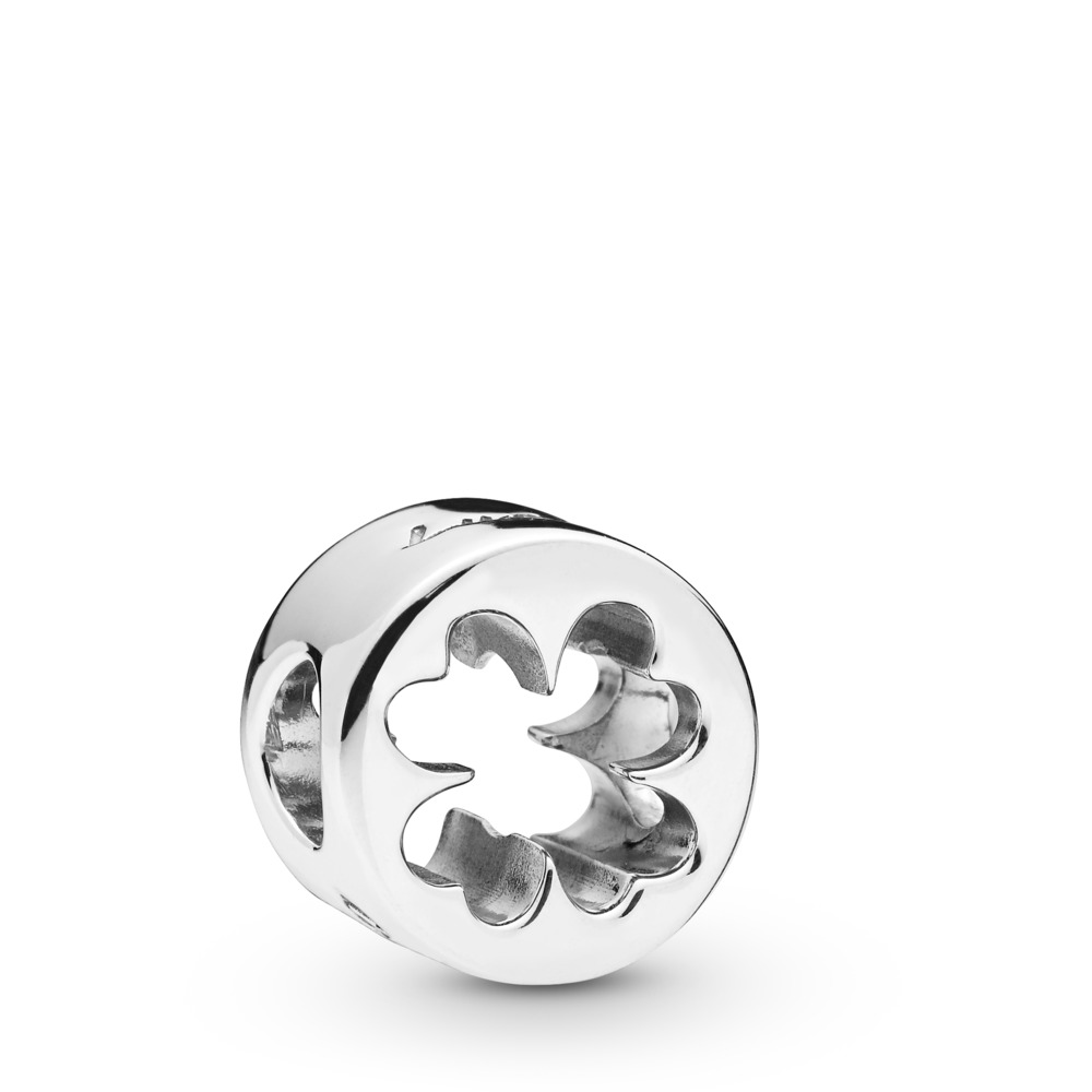 Clover Cut Out Charm, Sterling silver - PANDORA - #797868