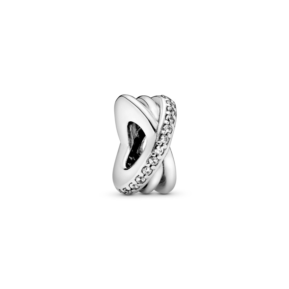 Galaxy Spacer, Clear CZ, Sterling silver, Cubic Zirconia - PANDORA - #791994CZ