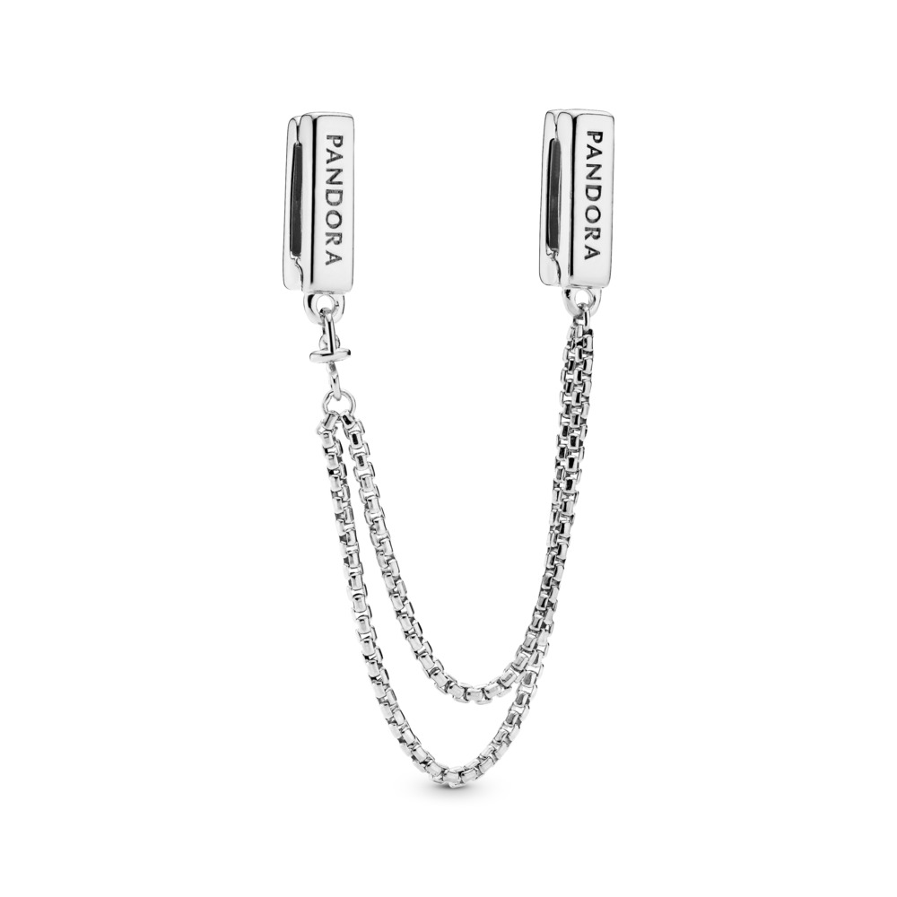PANDORA Reflexions™ Floating Chains Safety Chain, Sterling silver, Silicone - PANDORA - #797601