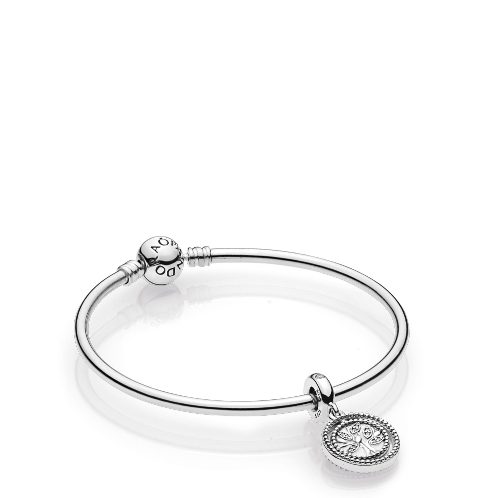 Family Tree Bangle Gift Set, Sterling silver - PANDORA - #B801156