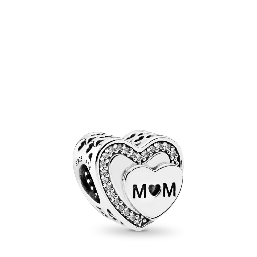 Tribute to Mom, Clear CZ, Sterling silver, Cubic Zirconia - PANDORA - #792070CZ