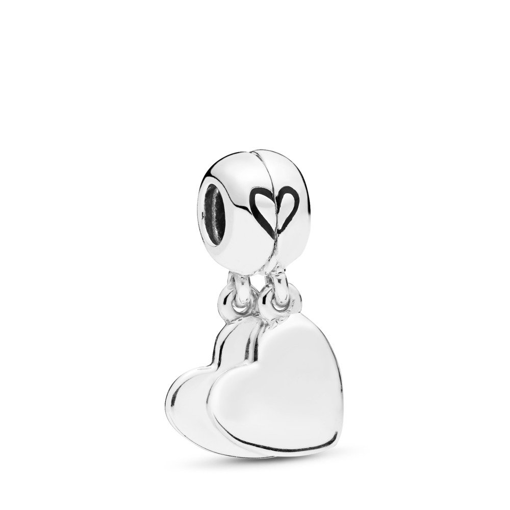 Mother & Son Love Dangle Charm, Sterling silver, Enamel, Black - PANDORA - #797777EN16