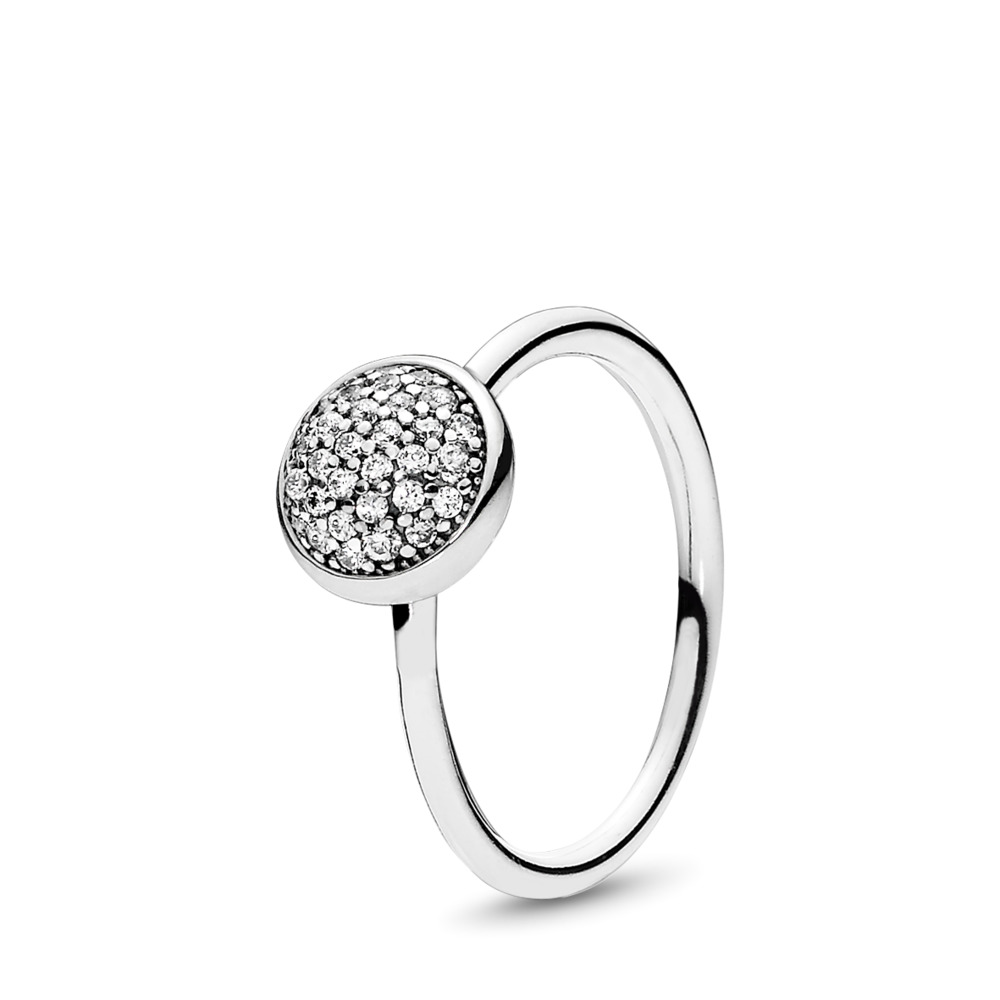 Dazzling Droplet Ring, Clear CZ, Sterling silver, Cubic Zirconia - PANDORA - #191009CZ