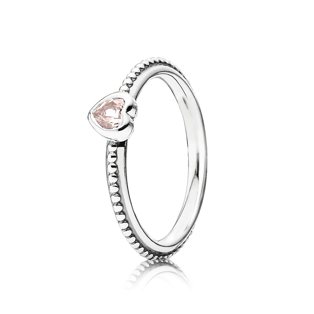 판도라 PANDORA One Love Ring, Synthetic Pink Sapphire Sterling silver, Pink, Synthetic sapphire