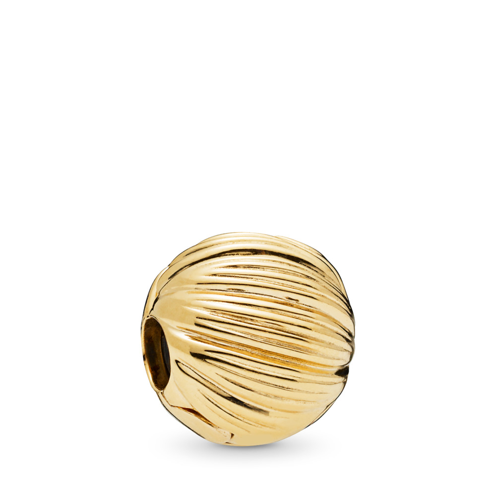 Seeds of Elegance Clip, PANDORA Shine™, 18ct Gold Plated, Silicone - PANDORA - #767578