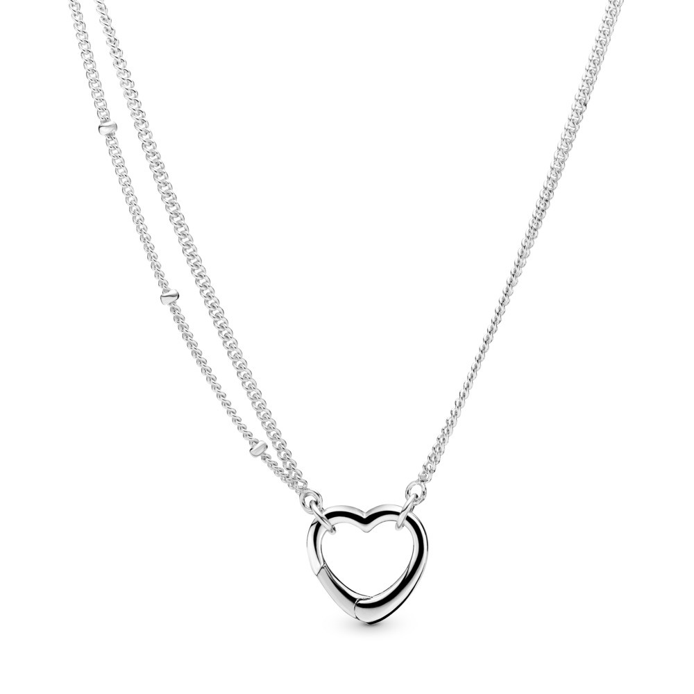 판도라 PANDORA Open Heart Necklace Sterling silver