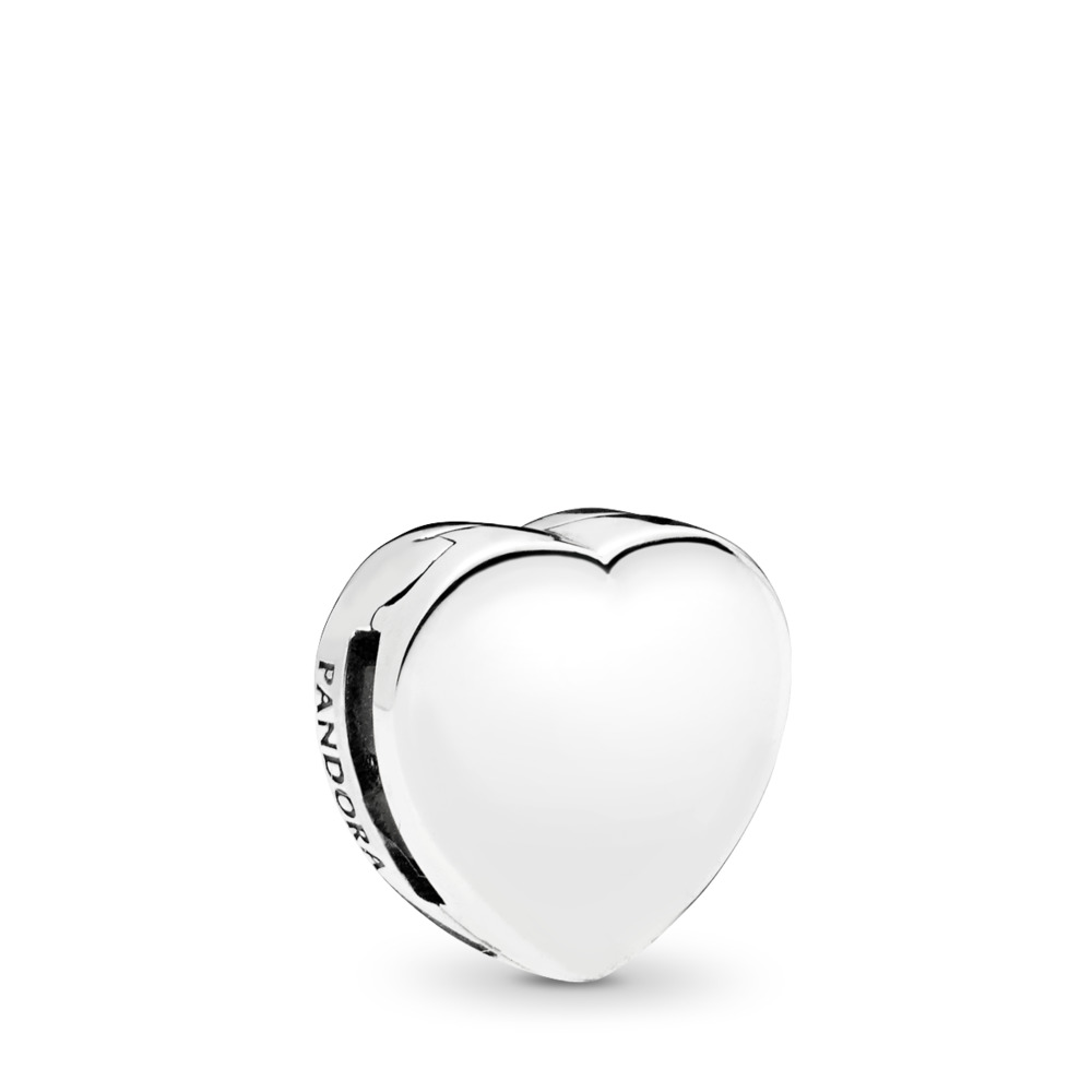 PANDORA Reflexions™ Heart Clip Charm, Sterling silver, Silicone - PANDORA - #797620