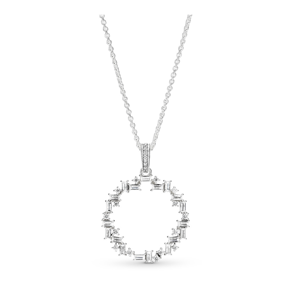 Shards of Sparkle Necklace, Clear CZ, Sterling silver, Cubic Zirconia - PANDORA - #397546CZ