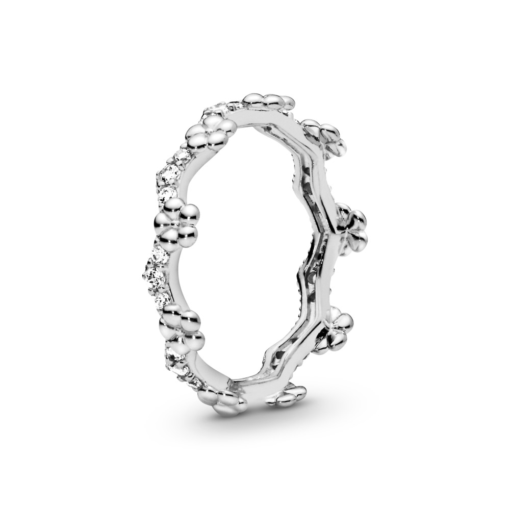 Flower Crown Ring, Sterling silver, Cubic Zirconia - PANDORA - #197924CZ