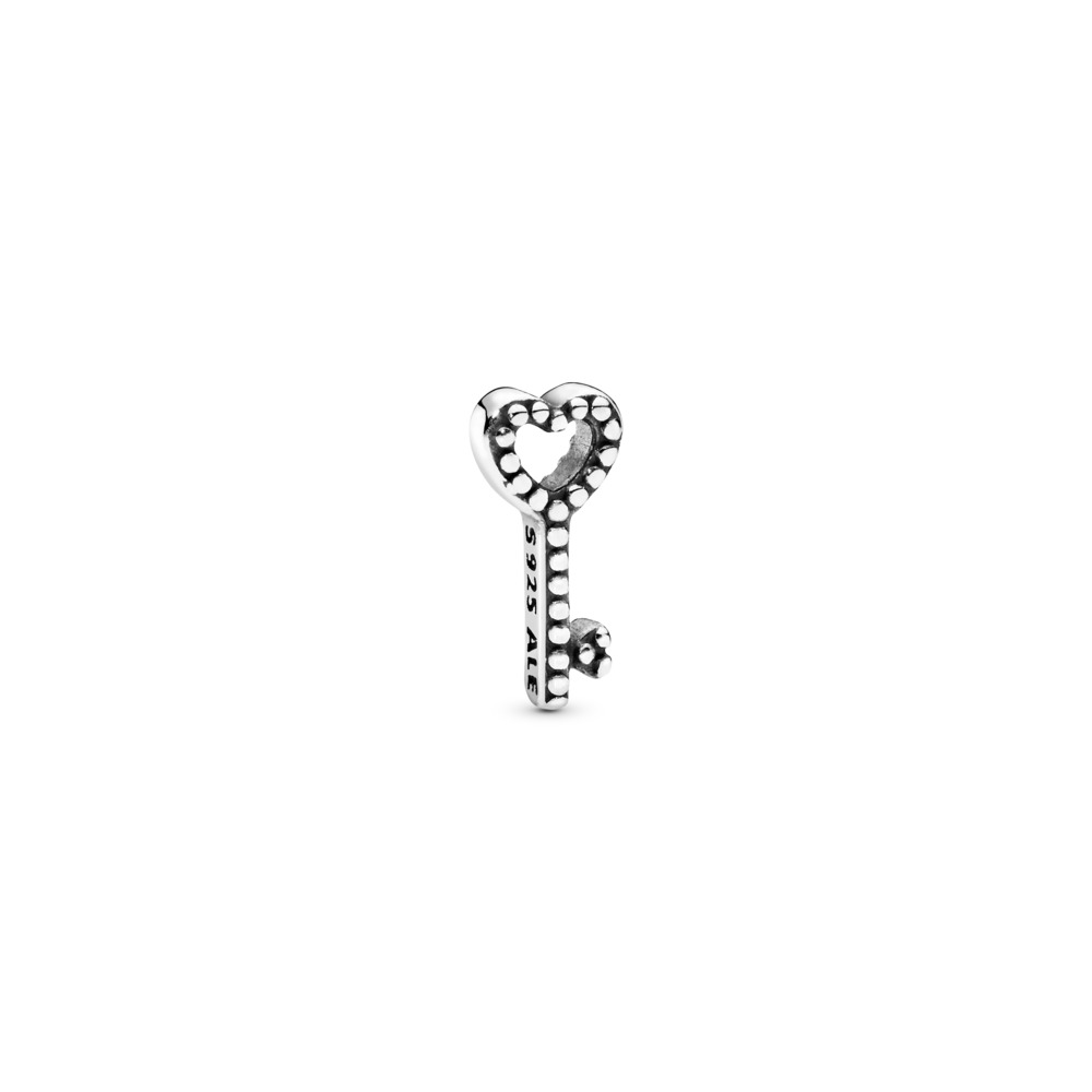 Heart Key Petite Locket Charm, Sterling silver - PANDORA - #796568
