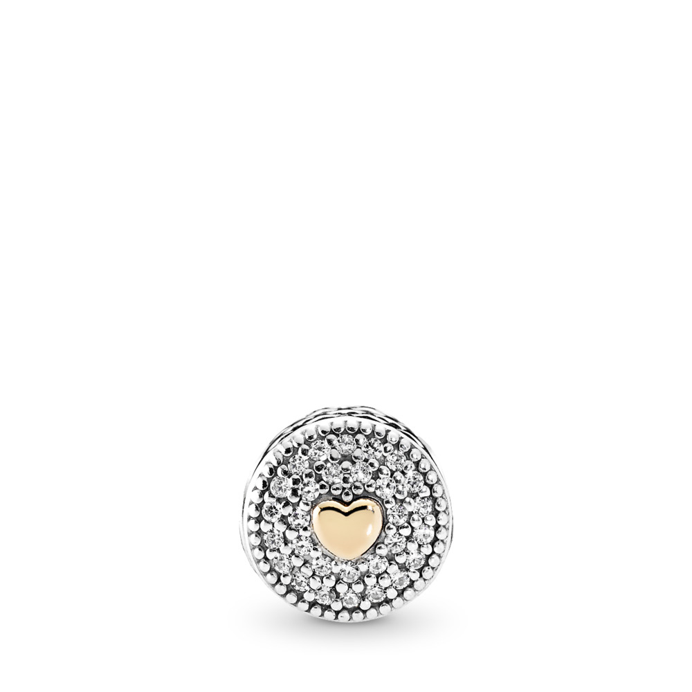 AFFECTION Charm, Clear CZ, Two Tone, Silicone, Cubic Zirconia - PANDORA - #796085CZ
