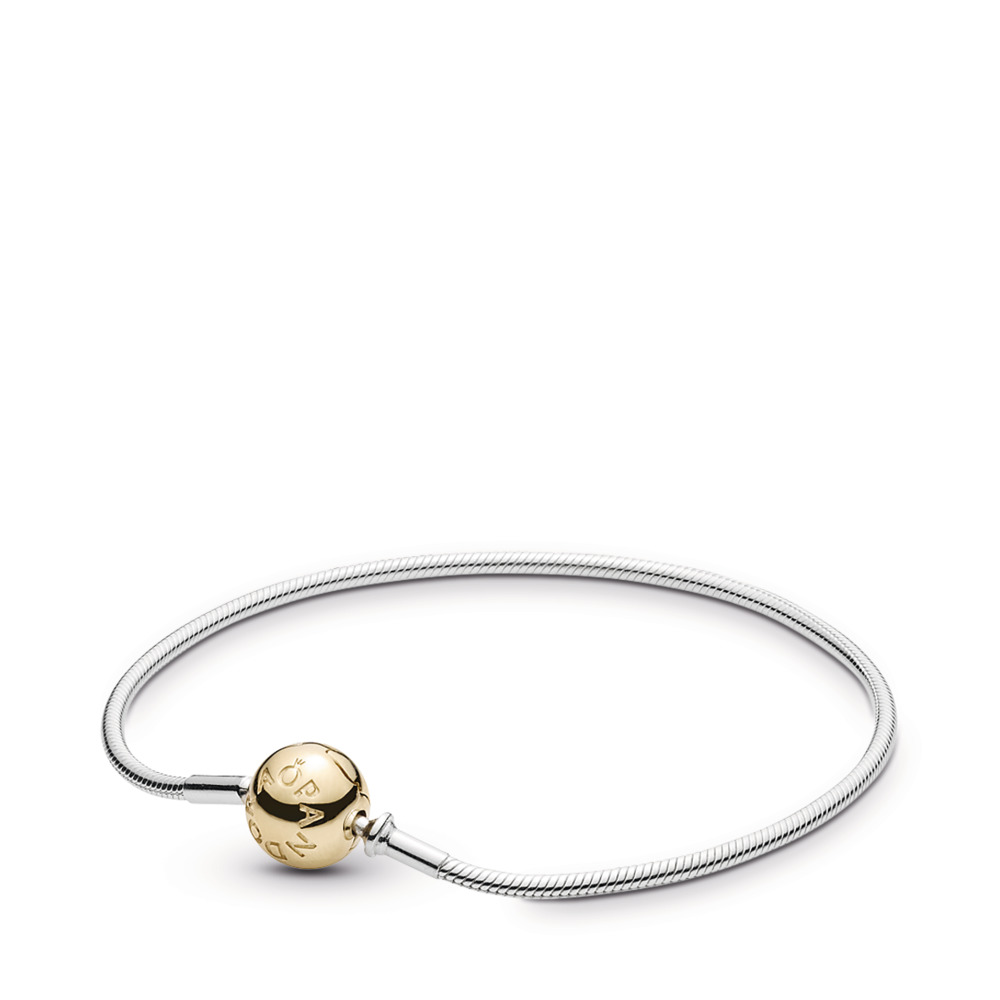 ESSENCE COLLECTION Sterling Silver Bracelet with 14K Gold Clasp, Two Tone - PANDORA - #596003