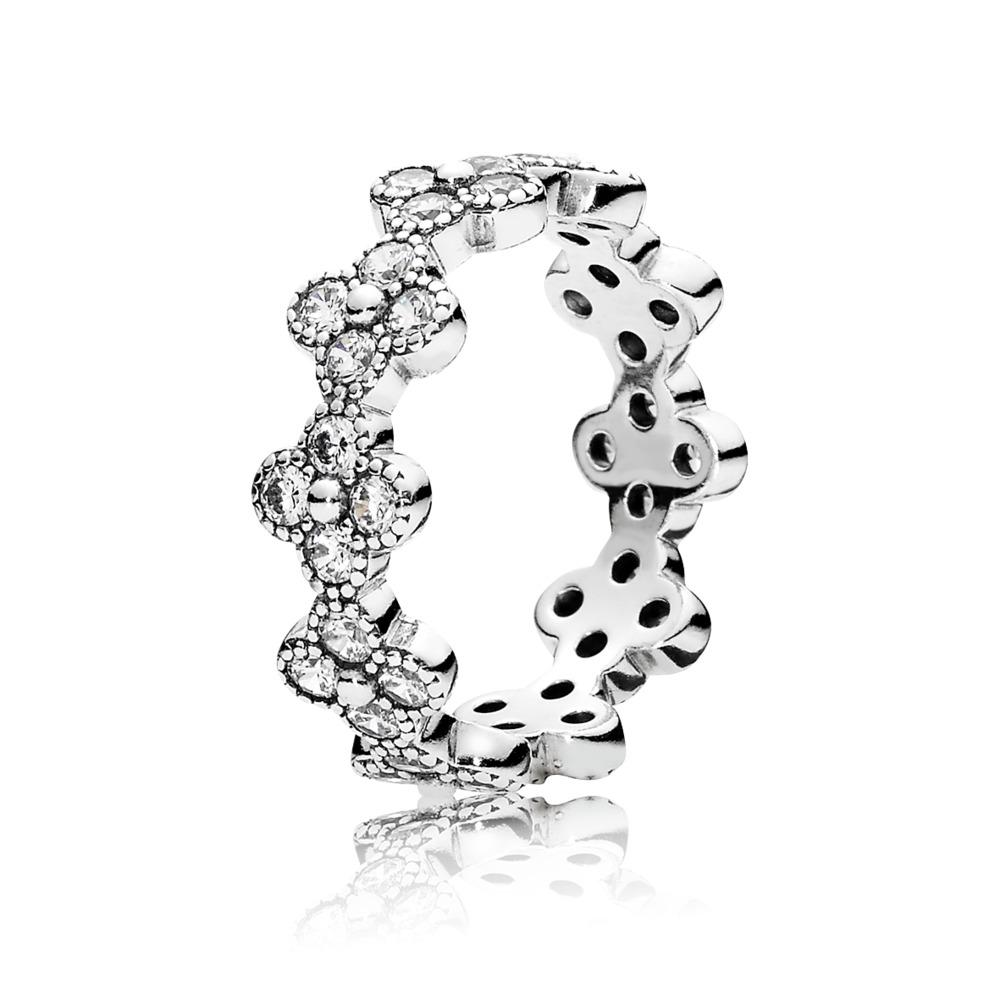판도라 PANDORA Oriental Blossom Ring, Clear CZ Sterling silver, Cubic Zirconia