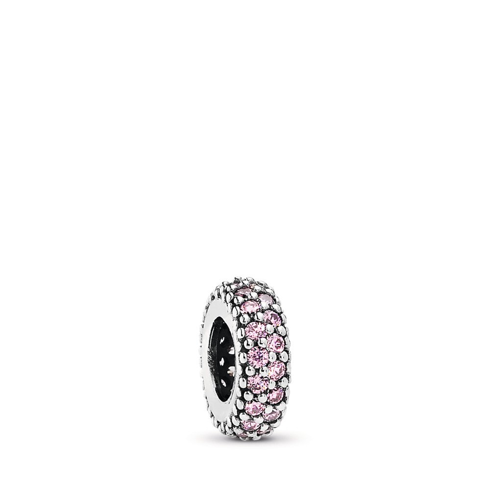 Inspiration Within Spacer, Pink CZ, Sterling silver, Pink, Cubic Zirconia - PANDORA - #791359PCZ