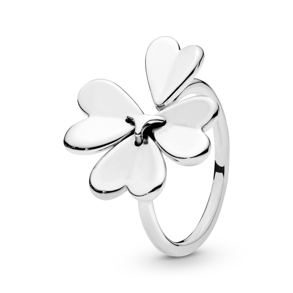 Moving Clover Ring, Sterling silver - PANDORA - #197949