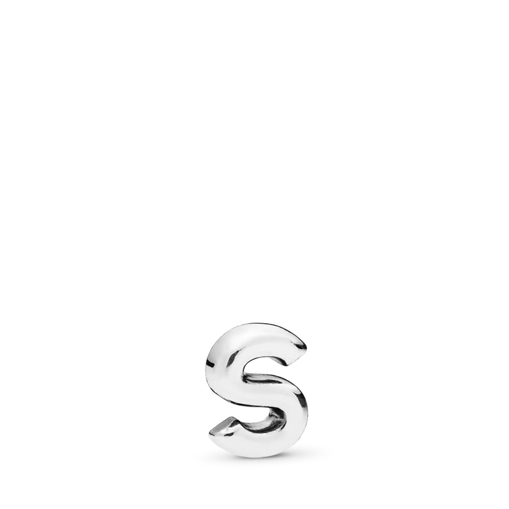 Letter S Petite Locket Charm, Sterling silver - PANDORA - #797337