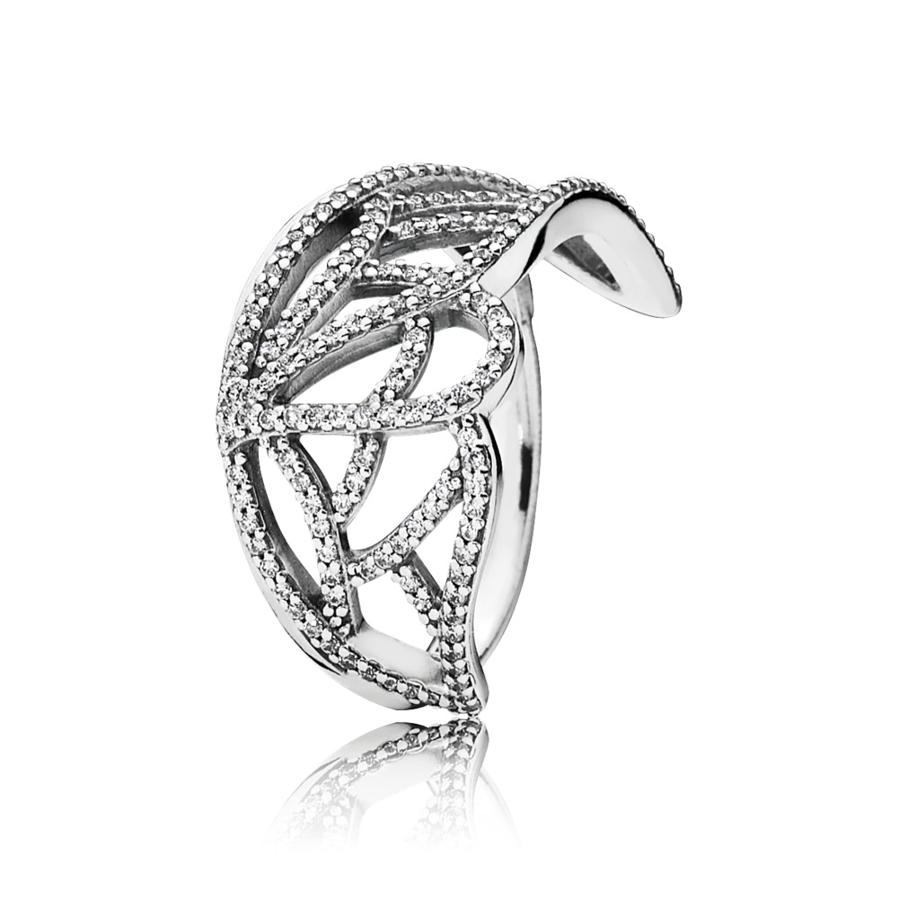 판도라 PANDORA New Beginning Butterfly Ring, Clear CZ Sterling silver, Cubic Zirconia