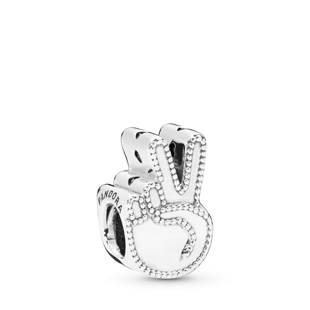 Symbol of Peace Charm, Sterling silver - PANDORA - #797215