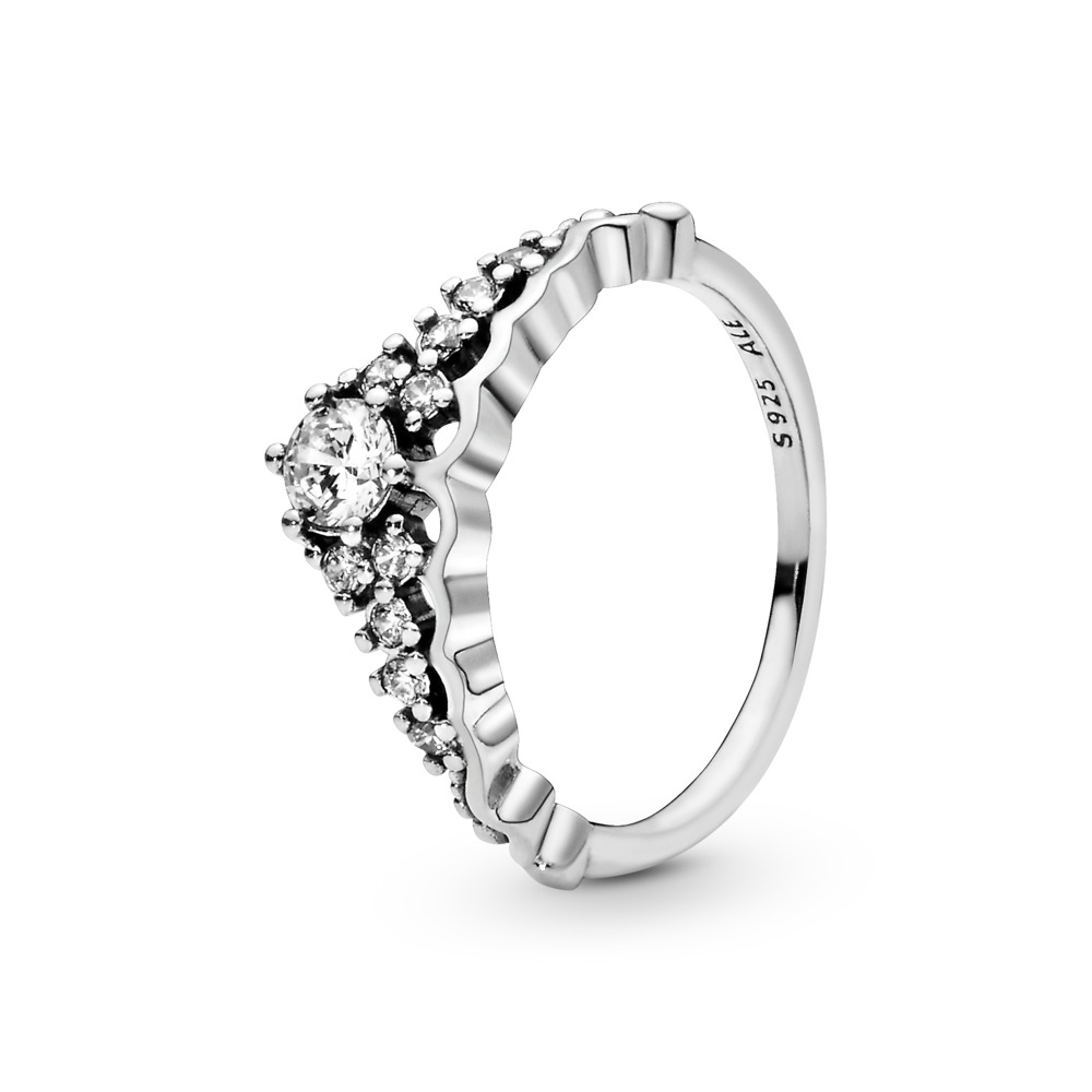 Fairytale Tiara Ring, Clear CZ, Sterling silver, Cubic Zirconia - PANDORA - #196226CZ