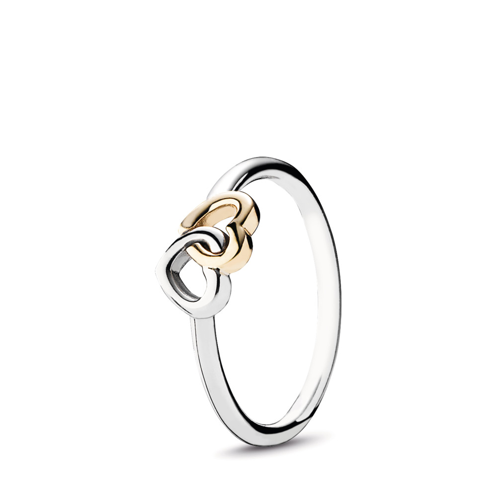 Heart To Heart Ring, Two Tone - PANDORA - #190927