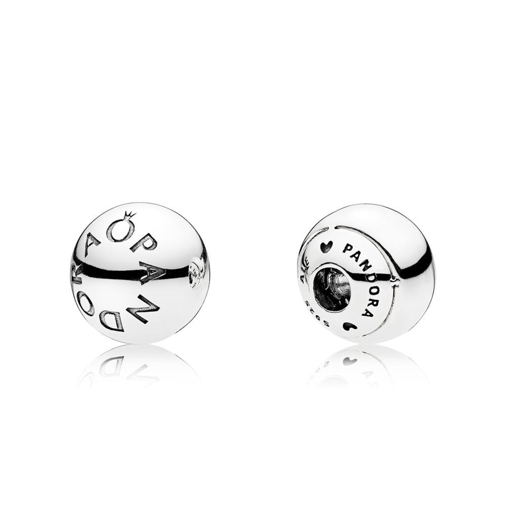 판도라 PANDORA Logo Open Bangle Caps Sterling silver